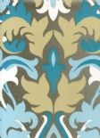 Reflections Glow Duck Egg Wallpaper 1907/769 By Prestigious Textiles
